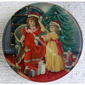 Obal: Vianočná dezertná plechová krabička (starožitnost)