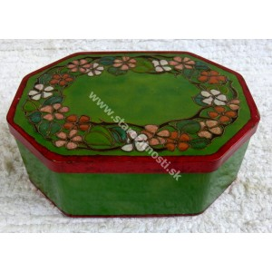 Obal: Plechová krabička kvetinový motiv